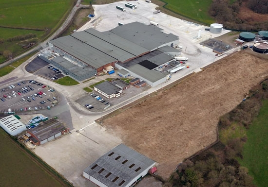 Aerial few of Maelor Foods 2019