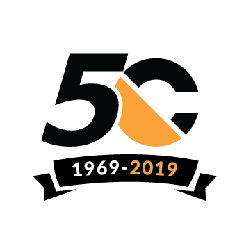 Cunningham Covers 50 year logo